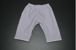 Hvide bukser med lys lilla striber