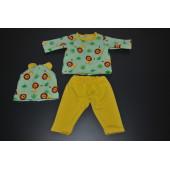 Dukketøj - sæt med med løver inkl. hue