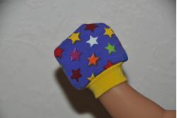 Lilla dukkevanter med stjerner