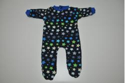 Mørkegrå dukkenatdragt med multifarvede stjerner